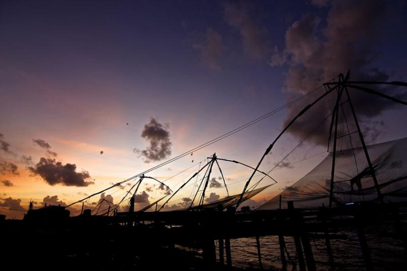 September 13th: The chinese nets of Fort Kochi