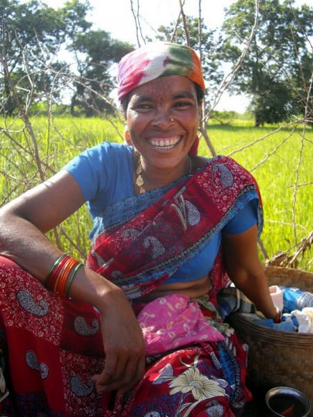 Smiling Tribal Woman