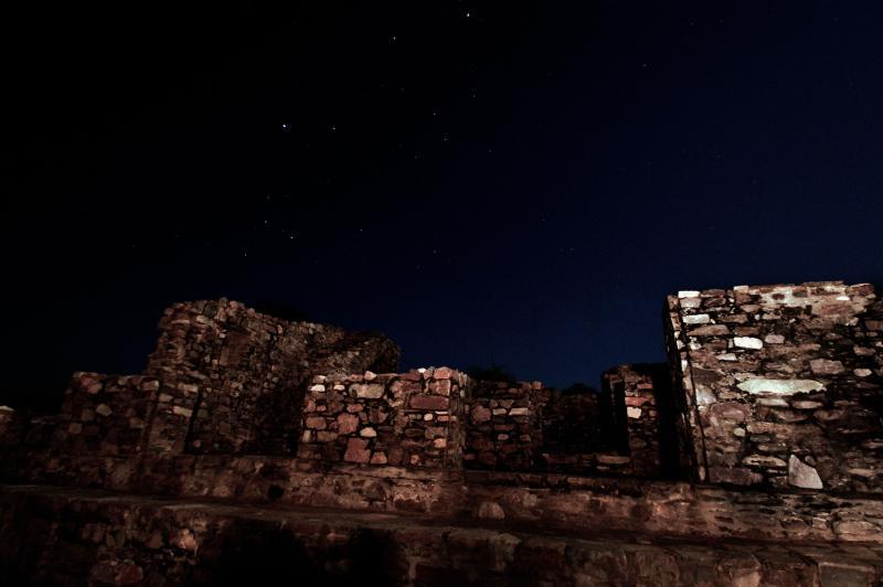 Bhangarh Fort at night