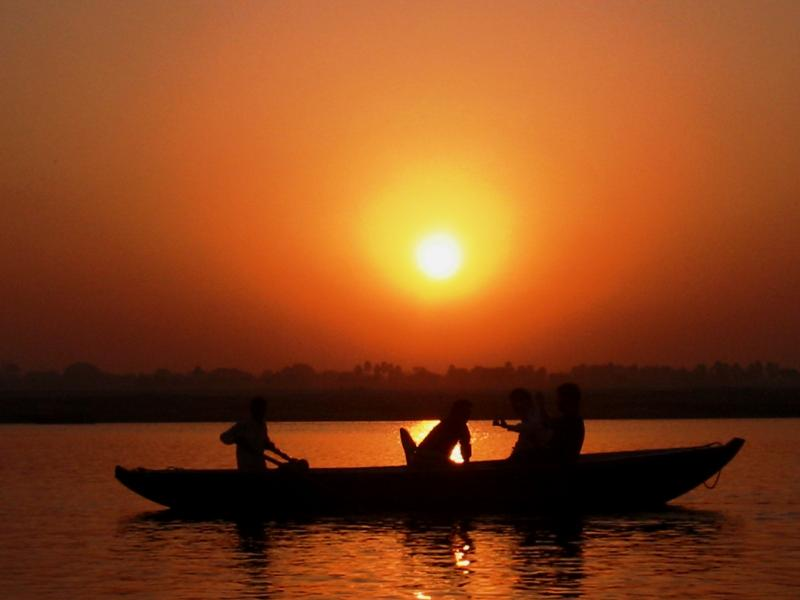 Sun setting on the ganges (Source)
