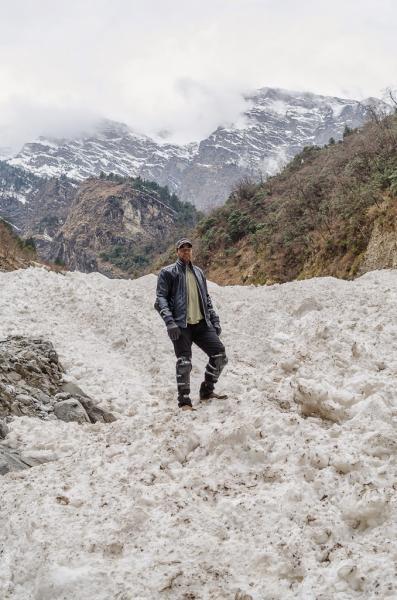 Standing on Glacier