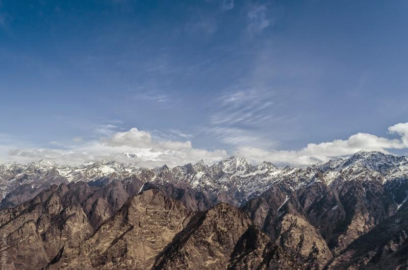 Endless Himalayan mountain ranges