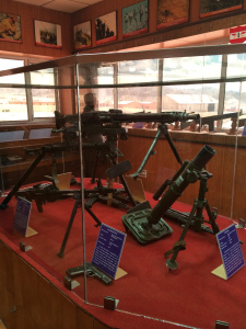 Arms and ammunitions on display