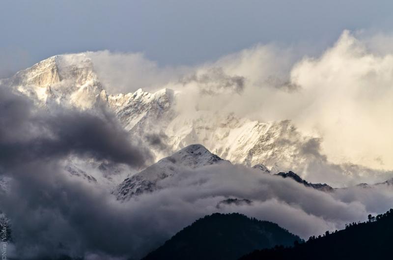 Chopta peaks from Deoria taal