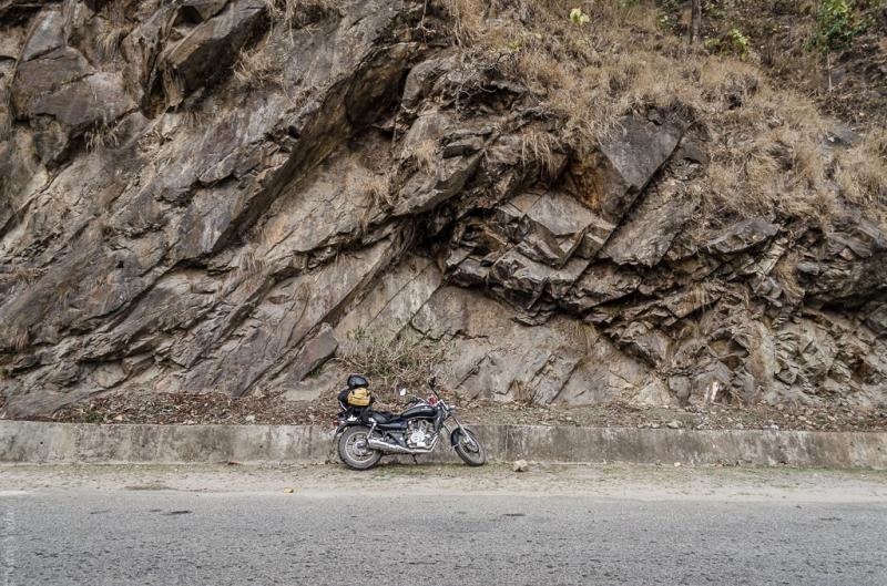Hrishikesh Deoprayag enroute bike pose
