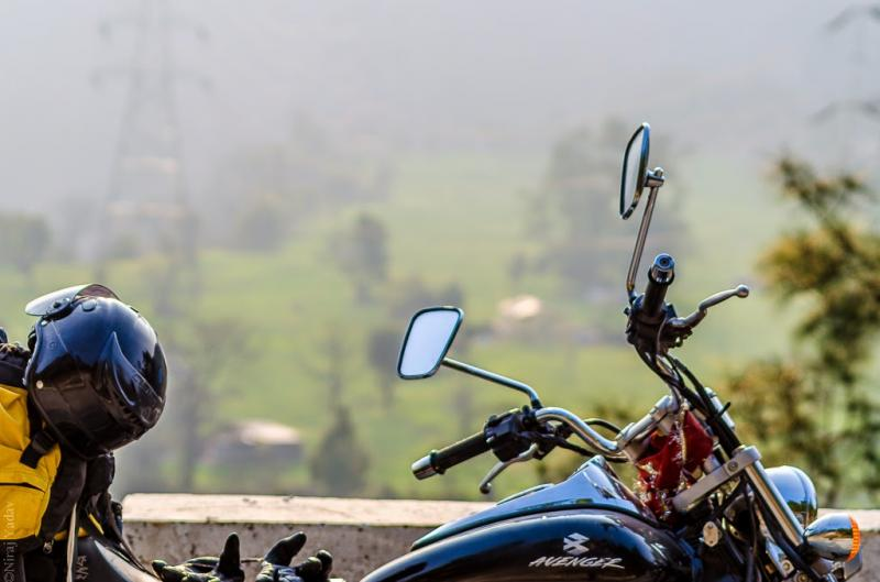 Rudraprayag Chamoli bike pose