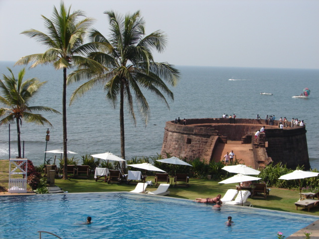 Taj Hotel near Sinquerium Beach in Goa: best beaches, Goa beaches, best beaches in goa