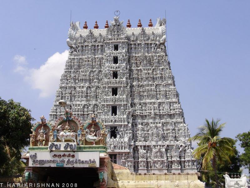 Suchindram Temple, Temples of South India