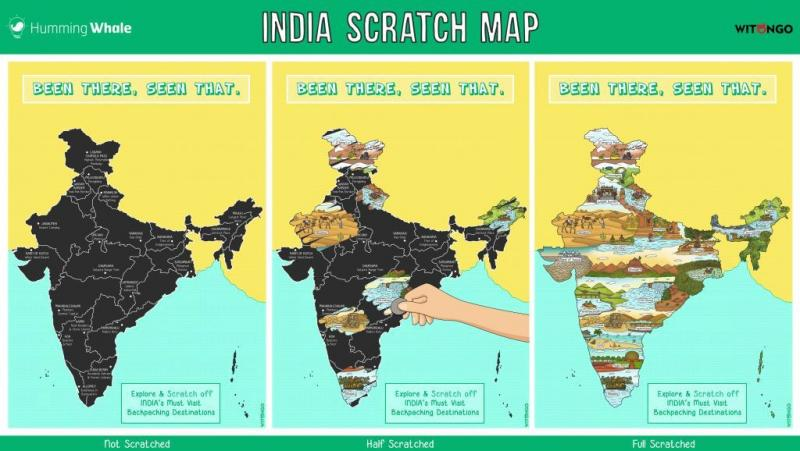 Scratch Map Of India
