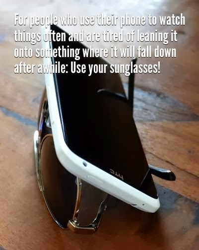 Smartphones and shades travel hack