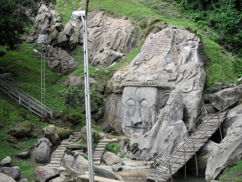 Sculptures at Unakoti, Tripura_Holidify