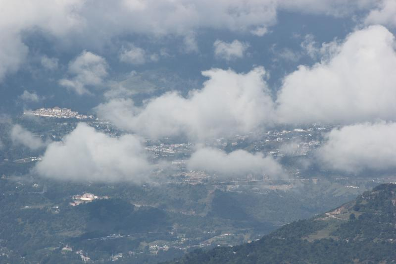 The 'hidden & blessed land' of Tawang with the monsatery on the left