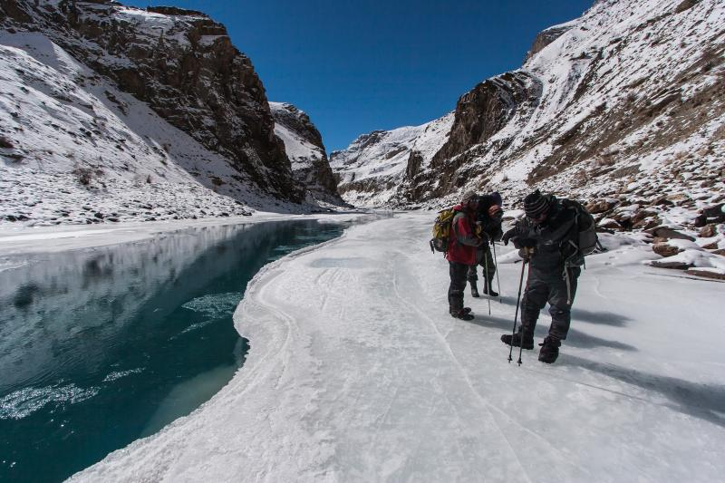 Chadar Trek, Places for snow in India