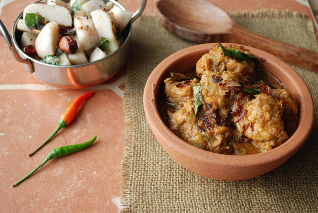 Erachi Varutharacha Curry, Kerala Food, Kerala Cuisine