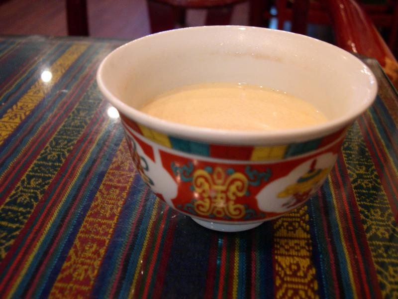 Gur Gur Cha also known as butter tea.Gur Gur Cha also known as butter tea.