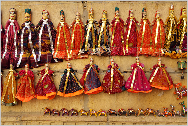 Puppets Indian From Jaipur -  Souvenirs From India
