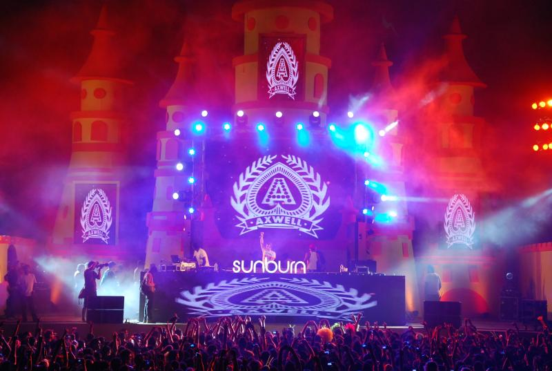 The Amazing Sunburn Festival in Goa bringing forward DJs from all over the world.