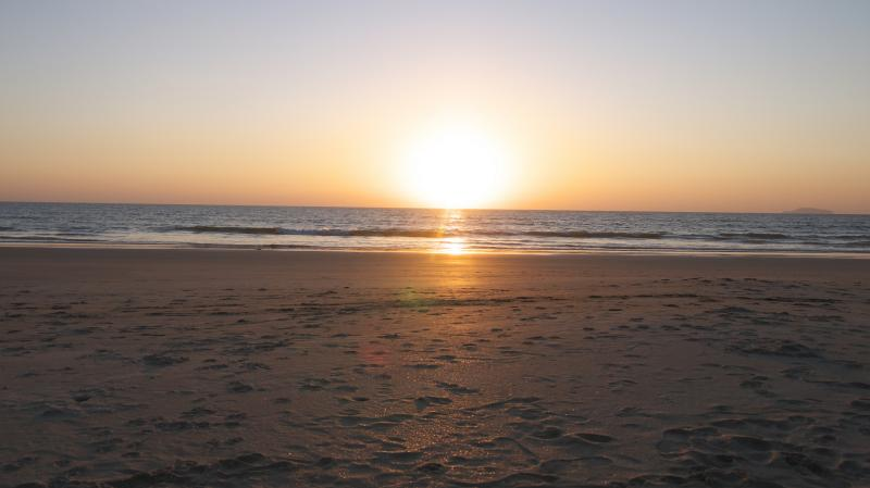 Velsao beach and its beautiful sunset.