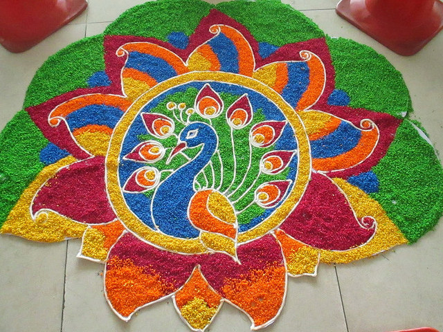 Kolam for Tamil New Years -  Festivals of Tamil Nadu