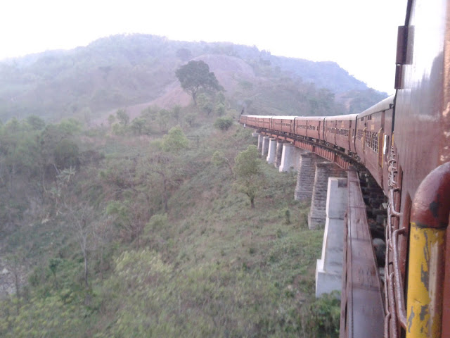 The breathtaking view from the Lumding Silchar train - Mountain Railways of India