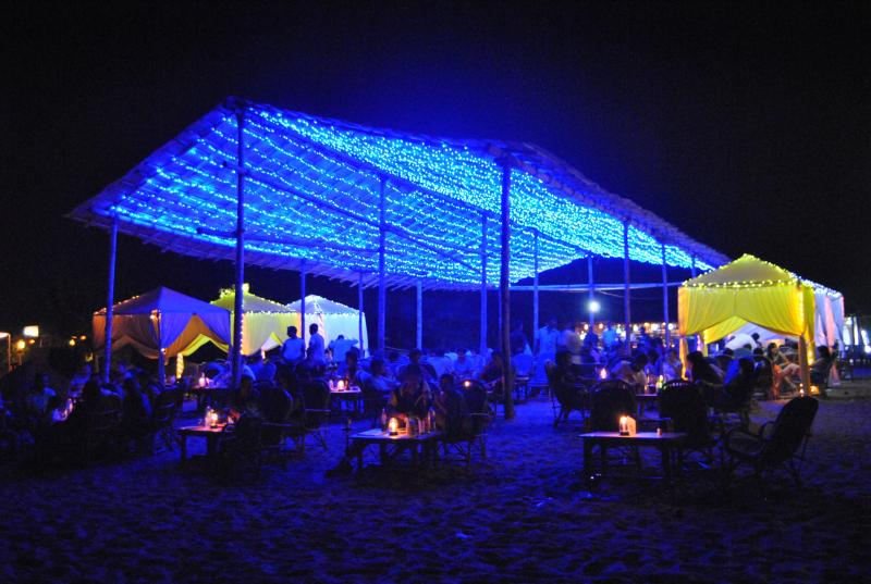 The beaches come to life in Goa at New Years