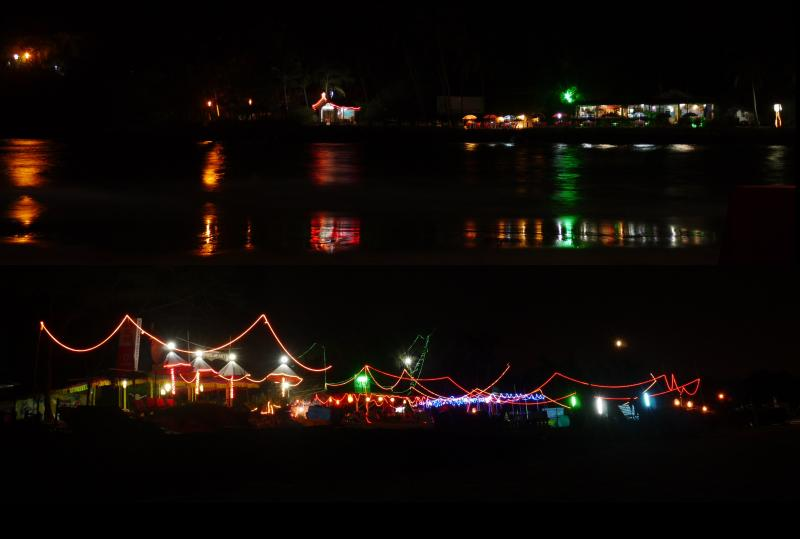 The lit up beaches and the casino cruise for new years party in goa