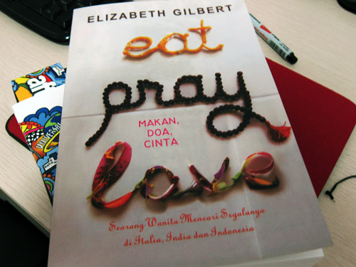 Eat Pray Love - Books to read while travelling