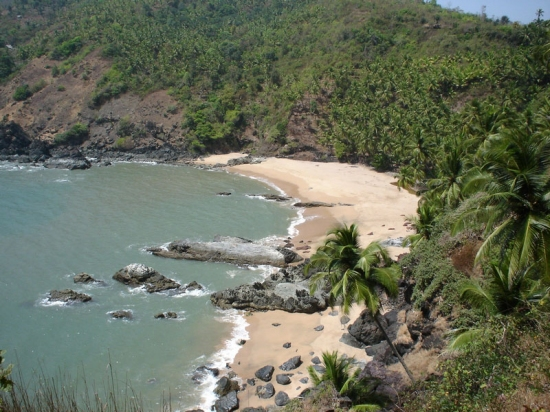 The Isolated and beautiful Kakolem Beach.