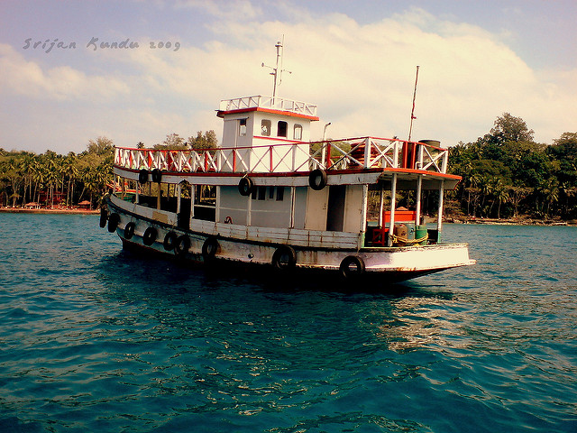 Ross Island Ferry - Andamans