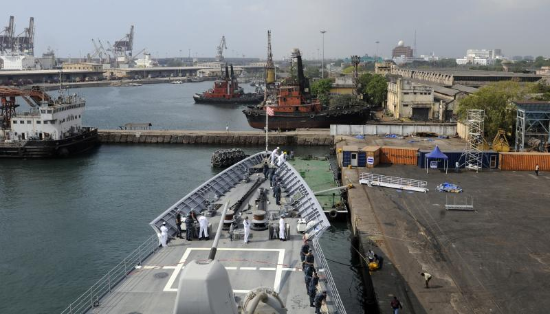 U.S. Navy Bunker at the Chennai Port - Seaports of India
