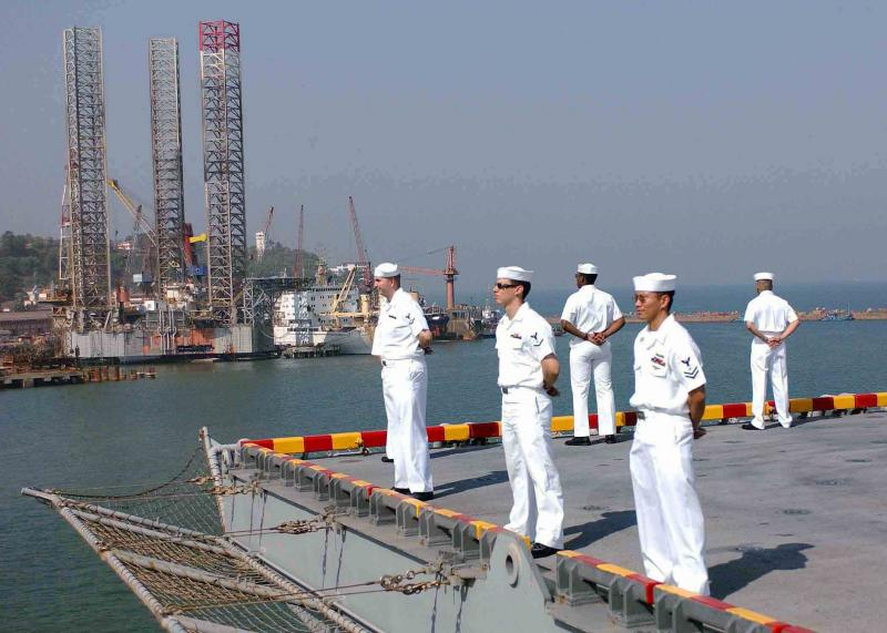 U.S Navy at the Mormugao Port in Goa - Seaports of India