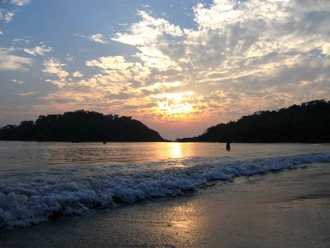 Sunset at the Palolem Beach, Goa beaches, best beaches in goa