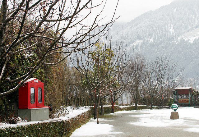 Manali view in winters