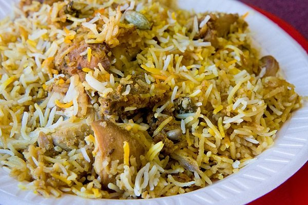Hyderabadi Chicken Biryani, Street Food in Hyderabad