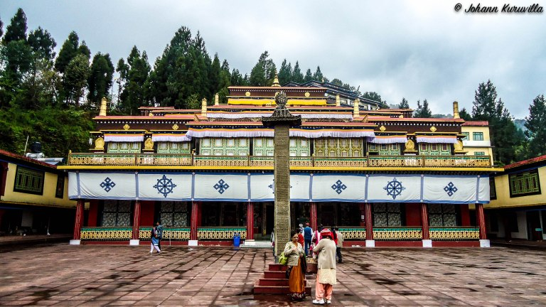 Courtyard of Rumtek Monastery