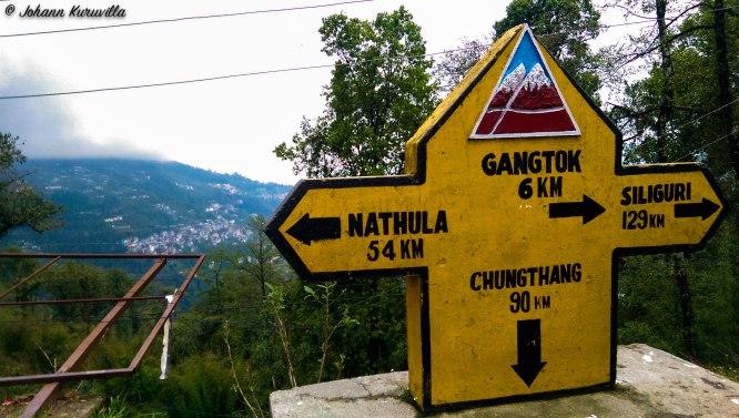 A milestone in Sikkim