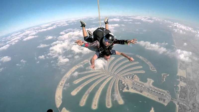 SKYDIVE AT THE PALM Dubai, Top Adventure Activities In Dubai