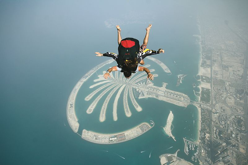 skydive palm jumeirah, Best Places In The World To Go Skydiving,  Best Places To Skydive In The World