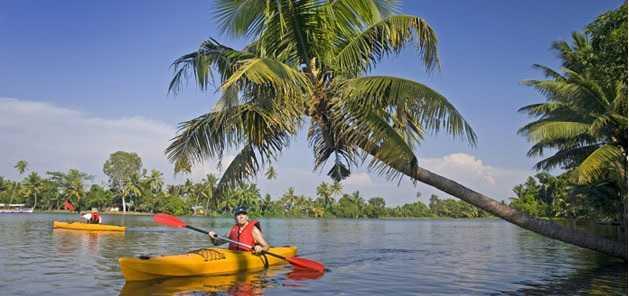 water sports in kerala, kayaking