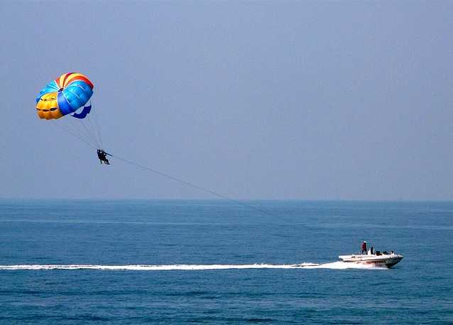 water sports in kerala, parasailing