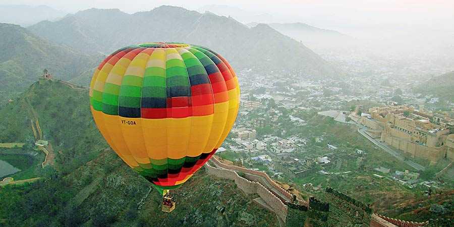 hot air ballooning in rajasthan