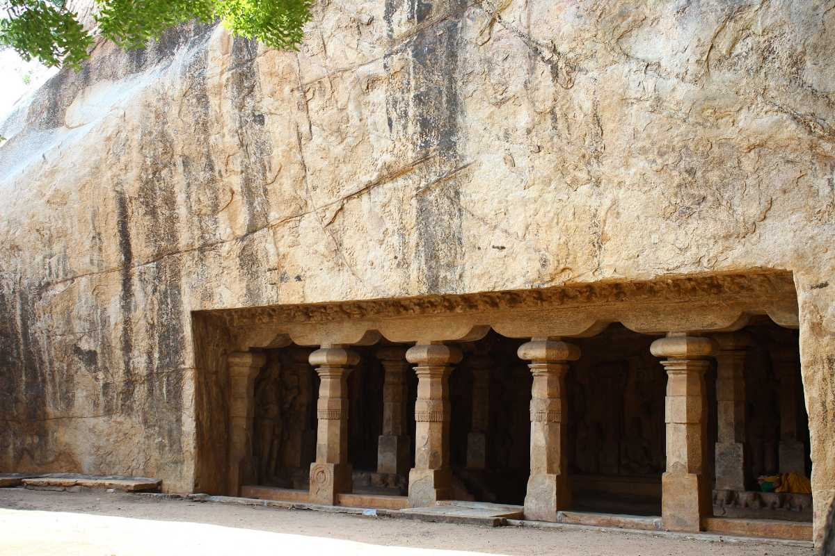 caves in india, trichi caves