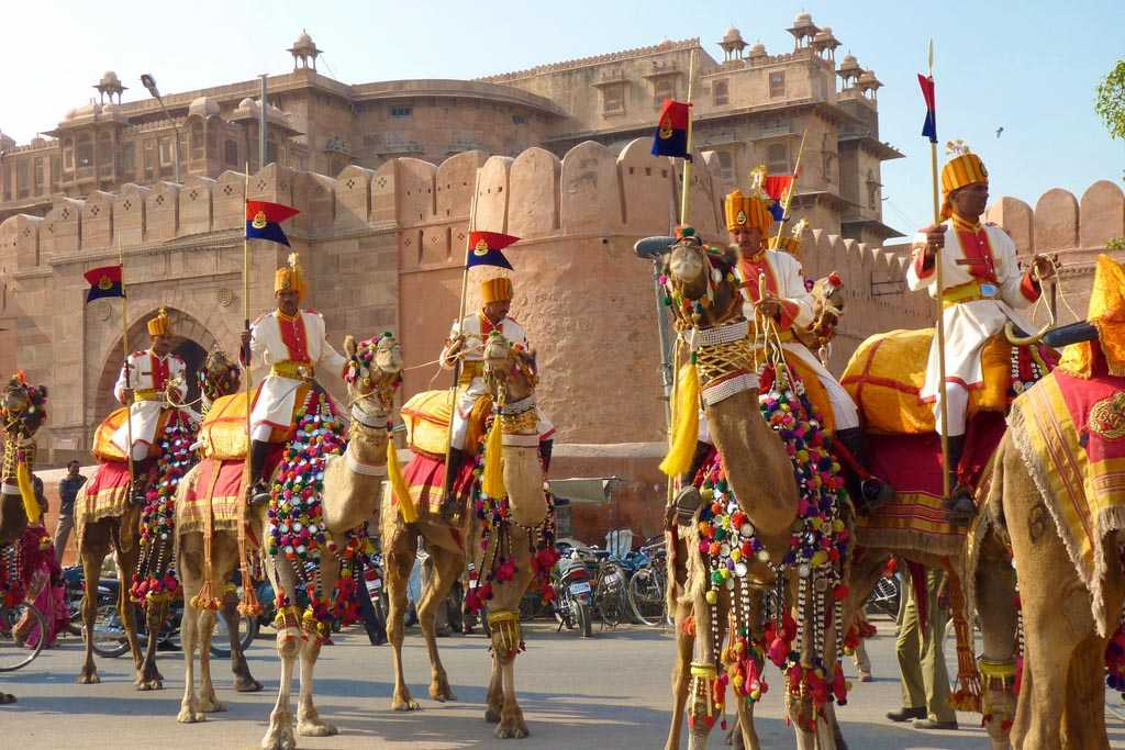The festival is not less than a carnival, where brightly garlanded Camels  against the lovely backdrop of the Junagarh Fort attract many tourists and  ...