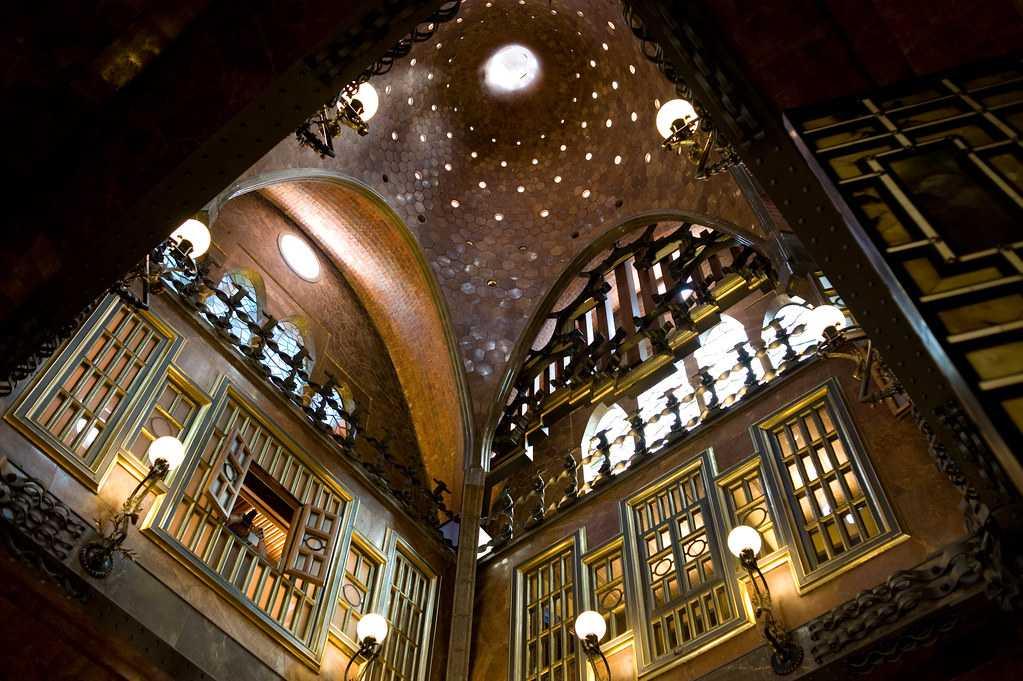 Interiors of Palau Guell, Barcelona