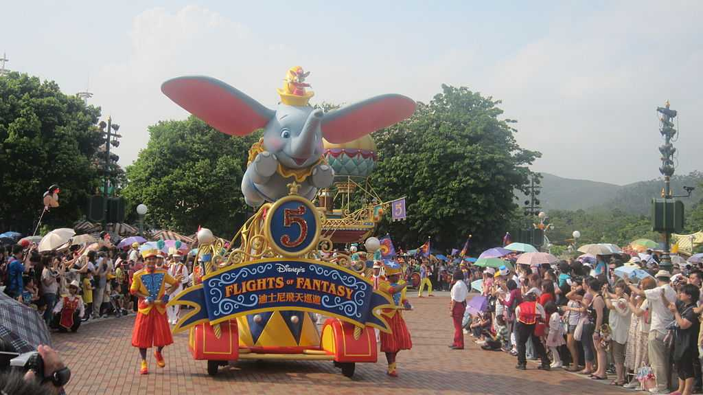 Flights of Fantasy Parade at Disneyland Hong Kong