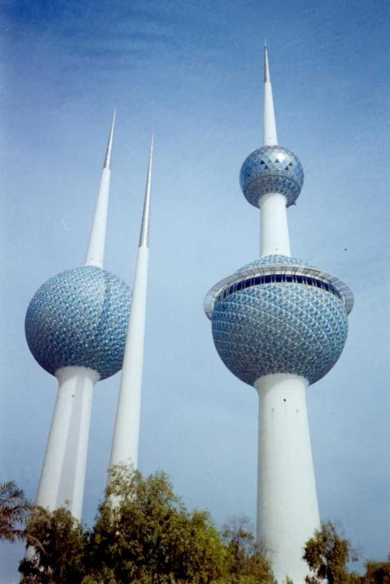 أبراج الكويت من اشهر المعالم السياحية