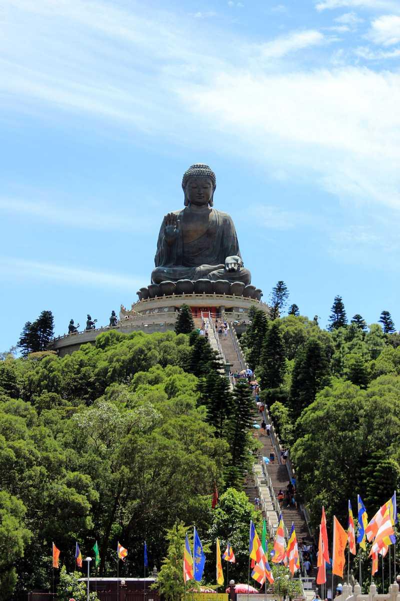 The Big Buddha at Lantau Island, Hong Kong