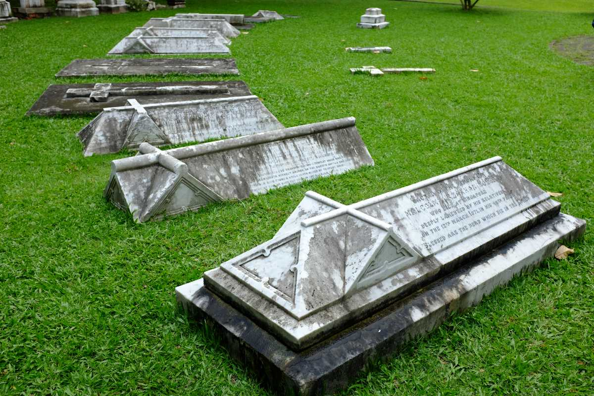 Tombstones at Armenian Church Singapore
