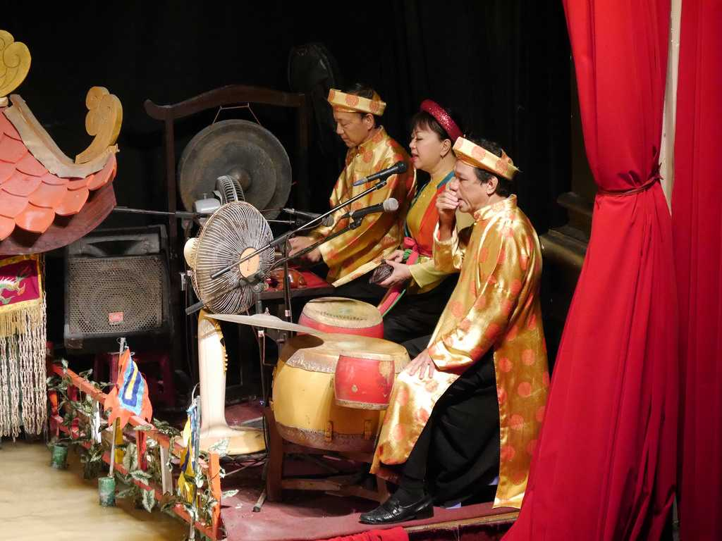 Musicians at Golden Dragon Water Puppet Theater, Ho Chi Minh City
