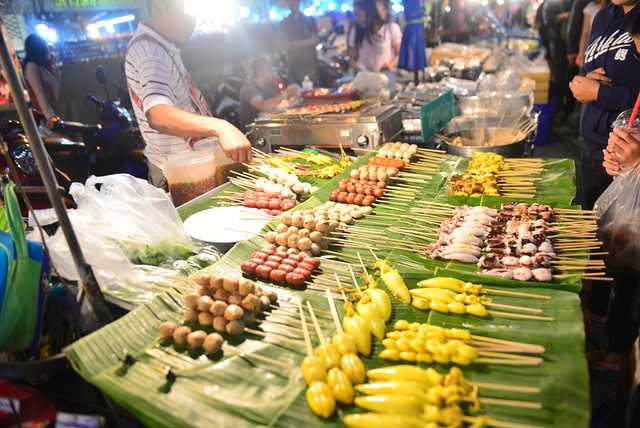 Food at Chiang Mai Night Bazaar